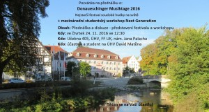 Pozvánka Donaueschingen Matěna plakátek